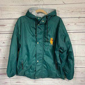 Vintage Disney zipup green Winnie The pooh jacket